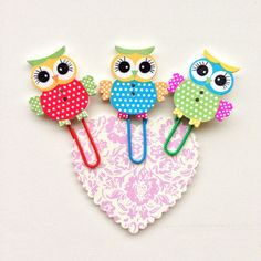 Owl Jumbo Paper Clips Butterfly Planner by cardcrazycreations