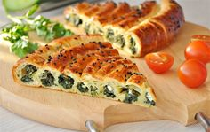 Пирог со шпинатом и сыром (очень вкусный пирог!).