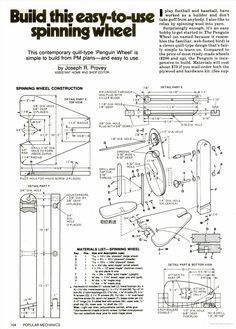 Spinning Wheel Woodworking Plans - WoodWorking Projects & Plans