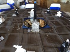 Table set up for the wedding I did