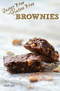 A super quick and easy recipe for sugar free gluten free brownies by larder love