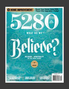 5280 Magazine by Jordan Metcalf, via Behance