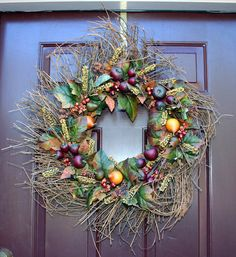 How to Make a Thanksgiving Grapevine Wreath. This holiday season greet guests with a gorgeous grapevine wreath. Watch the video and learn how to make. http://howtomakeaburlapwreath.com/make-thanksgiving-grapevine-wreath-video/ #Thanksgiving #wreath #crafts