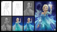 Elsa_process by chuaenghan on DeviantArt