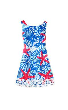Lilly Pulitzer Little Delia Dress in She She Shells
