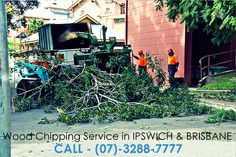 Turn #tree branches into wood-chips an recycle the chips on your gardens and pathways. #WoodChipping #Brisbane #Ipswich - For more please visit - http://www.australiantreeservices.com.au/wood-chipping/