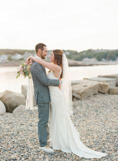 High School sweetheart's New England wedding: http://www.stylemepretty.com/massachusetts-weddings/rockport-massachusetts-united-states/2015/11/20/high-school-sweethearts-labor-of-love-wedding-in-rockport-massachusetts/ | Photography: Ruth Eileen - http://rutheileenphotography.com/