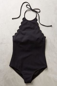 Marysia Scalloped One-Piece Black M Swimwear