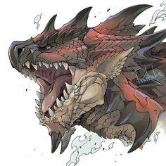 Monster Concept Art, Monster Art, Monster Drawing, Creature Concept Art, Creature Design, Monster Hunter Cat, Monster Hunter Rathalos, Monster Hunter World Wallpaper, Cool Monsters