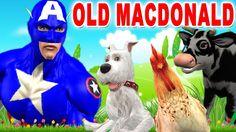 Captain America Cartoons Nursery Rhymes | Old MacDonald Animal Nursery R...