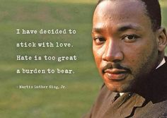 Peace and tolerance. Martin Luther King