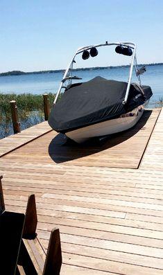 Lake Dock, Boat Dock, Pontoon Boat, Boat Navigation, Lake Landscaping, Hidden Pool, Lake House Plans, Boat Lift, Marine Boat