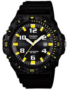 The Casio MRW-S300H-1B3 is a tough Solar Powered Watch. They typically cost around £55 and come in a range of colours
