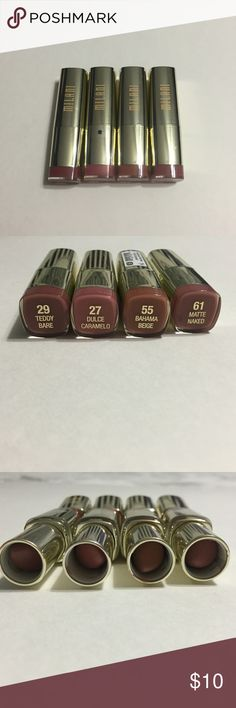 Milani Bundle PLEASE READ PRIOR TO BUYING / COMMENTING:        all the products have been lightly used and sanitized (usage is shown). selling as a bundle but i will separate products for $6 each (plus shipping) with no bundle discounts. i am currently not offering swatch photos but i suggest to look up swatches online! // not open to offers or trading Milani Makeup Lipstick