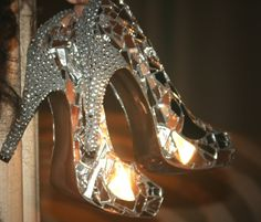 now that I got my Glass heels, I'm just waiting on my Prince. Ceramic Shoes, Glass Ceramic, Glass Heels, Glass Slipper, Shoe Collection, Fashion Boots, Me Too Shoes, Glass Art, Perfume Bottles