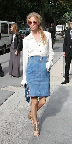 A History of the Denim Skirt: See Its Evolution Through the Years - Poppy Delevingne, 2012 from InStyle.com