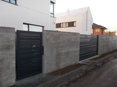 ogrodzenie beton architektoniczny surowy nowoczesny wzór horizon wood