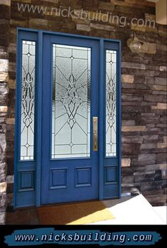 Blue Front Door. This blue front door color is called tardis blue. It looks so nice we decided to create an entire BLUE FRONT DOOR SEREIS! call and ask about the blue door line :) and keep smiling Tardis Blue, Cabinet Paint Colors, Doors Online, Front Door Colors, Home Upgrades, Entrance Doors, Painting Cabinets, Wooden Doors, Interior And Exterior