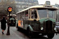 Photographie originale, Renault un autobus, Ligne gare de Lyon à Paris, documents automobiles anciens, v2.