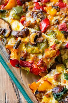 Here's a vegetable and protein-packed recipe for Easy Make-Ahead Breakfast Casserole. Makes wonderful leftovers too!