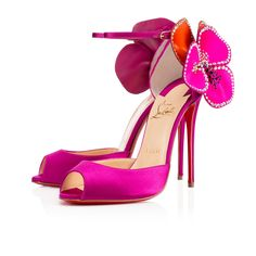 7f90c283ab Pensamoi 120mm Eveque Satin $1395 Red Bottom Shoes, Flower Shoes, Pink  Shoes, Pink