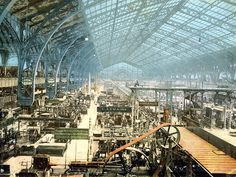 Early photographs of paris | Machinery Hall, Exposition Universelle, Paris, 1889.