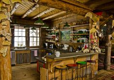 rustic, western-style, country kitchen