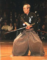 Iaido practiced wearing a hakama