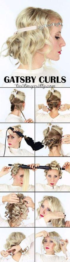 Swell Headband Hairstyles 1920S Headband And Great Gatsby Hair On Pinterest Short Hairstyles Gunalazisus