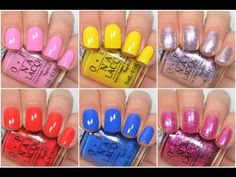 OPI - New Orleans (Spring/Summer 2016) - Swatch and Review - YouTube