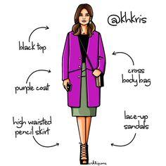 Наше вдохновение - прекрасная Кристина Хоронжук✨✏️ @khkris by #girlsinbloom #illustration #fashionillustration #art_fashion #daily_art #purple #coat #lookoftheday #itgirl #иллюстрация #модныйблог #блоггер #москва