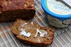Naturally Sweetened Banana Orange Bread  make it vegan by substituting 2 T ground flax mixed with 1/4 cup warm water in place of the eggs!
