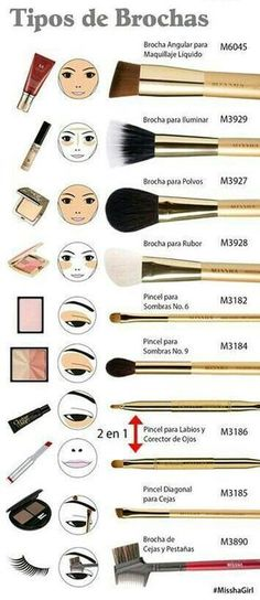 There are a lot of people who nowadays are applying cosmetics using their fingers, in my opinion it looks a lot better if applied using a make-up brush. This article describes the reasons for this and looks at the types of make-up bru Makeup Brush Uses, Makeup 101, Makeup Guide, Diy Makeup, Makeup Tools, Makeup Inspo, Makeup Inspiration, Makeup Tricks, Makeup Ideas