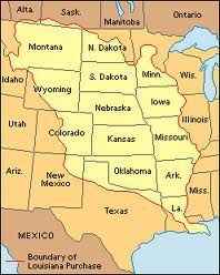 Worksheet. Here is all the states included in the Lousiana purchase And