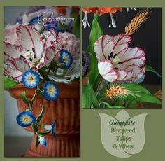 {Gumpaste Bindweed, Striped Tulips & Wheat}