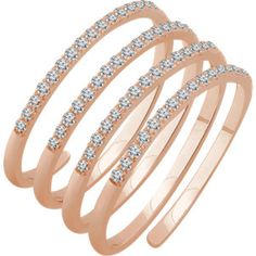 #mystullerstyle pg 301 14K Rose 1/2 CTW Diamond Ring