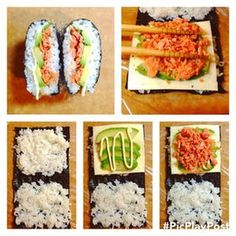 おにぎらず how to make onigirazu Bento Recipes, Cooking Recipes, Healthy Recipes, Cute Food, Good Food, Yummy Food, Sushi Sandwich, Onigirazu, Japanese Food