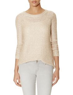 Crew Neck Sequin Sweater | Mini-Sequin Sweater | THE LIMITED