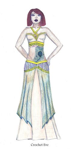 Paper Doll Jessica Wearing Belly Dancer Costume, Peacock Feather Tattoo. Please Visit My Blog To Get The Paper Doll.