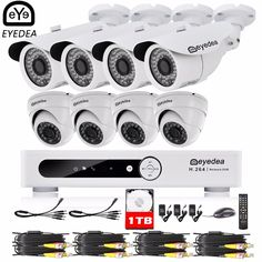 562.49$  Buy here - Eyedea 16 CH Remote View Video DVR 1080P Bullet Dome CMOS Night Vision Business Surveillance CCTV Security Camera System 1TB Kit  #buyonlinewebsite
