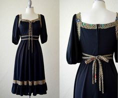 - Peasant Girl Gypsy - Vintage Boho Hippie Peasant Dress/ Late 60s early 70s by RedLightVintageShop, $38.00