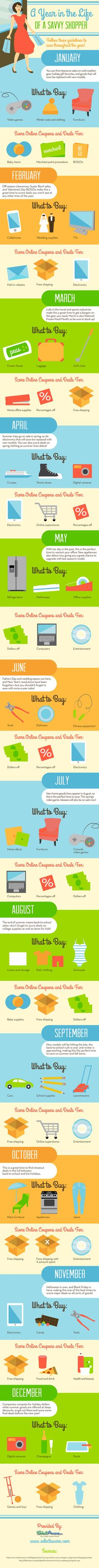 A Year in the Life of a Savvy Shopper - When is the best time to buy?