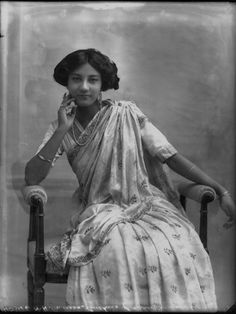 And the princess of Cooch-Behar in a blouse that shows a more demure Edwardian influence. Also from the National Portrait Gallery. And another princess of Cooch-Behar in what appears to be Edwardian costume.
