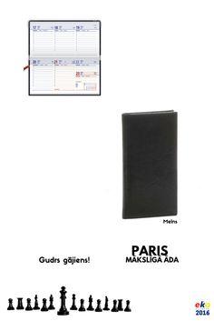 BALTA eko 2016.gada plānotāju kolekcija: PARIS Mākslīgā āda Melns. Gudrs gājiens! #EKOkalendāri