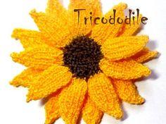 Tournesol en tricot : la suite - par fleur de laine