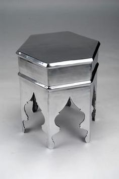 Recycled Aluminum Moroccan Style Hexagonal Table