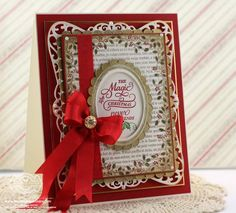 JustRite Papercrafts - Holly Frame Background Stamp, Christmas Inner Thoughts card designed by Becca Feeken- Spellbinders Timeless Rectangles, Spellbinders Exquisite Labels Eleven, Spellbinders Classic Ovals LG Stamped Christmas Cards, Xmas Cards, Handmade Christmas, Holiday Cards, Christmas Crafts, Holiday Ideas, Card Making Inspiration, Making Ideas, Becca Feeken Cards