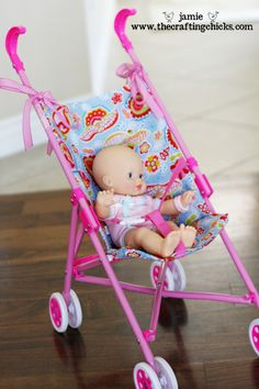 Revamped Doll Stroller Seat Tutorial==I need to make this. our dolls stroller seat is broken....