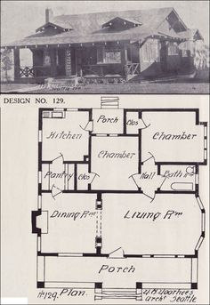 Bungalow House Plan - California Style Bungalow Architecture - 1908 Western Home Builder - Design No. 129 - Victor W. Voorhees