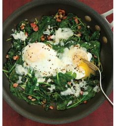 """For Recipe: CLICK on PIC and when taken to 2nd pic click again..Eggs Florentine Skillet...  ...Recipe by George Stella... ...For tons more Low Carb recipes visit us at """"Low Carbing Among Friends"""" on Facebook"""